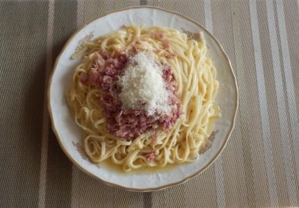 Špagety carbonara - Spaghetti carbonara