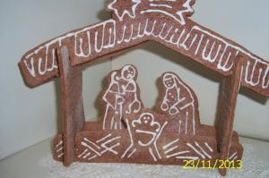 Perníkový betlém a svícínky