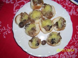 Jednohubky s houbami
