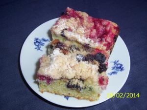 Borůvkovo rybízový koláč