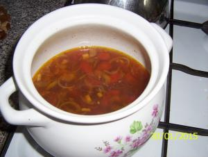 Indická fazolová polévka
