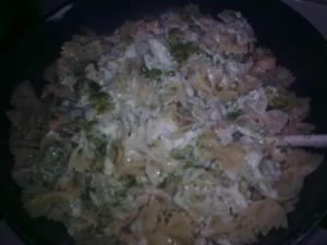 Mašličky s brokolicí a kuřecím masem
