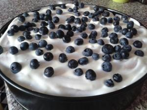 Ovocný dort ze zakysané smetany