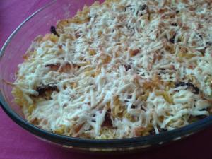 Zapečené těstoviny s dýní a sušenými rajčaty