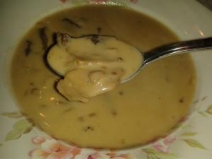 Hříbková krémová polévka
