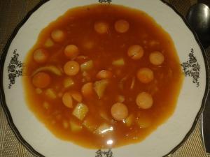 Polévka z pečených fazolí