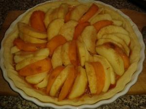 Jablečný koláč s kaki