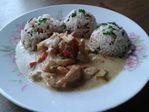 Indické krůtí kari (curry)