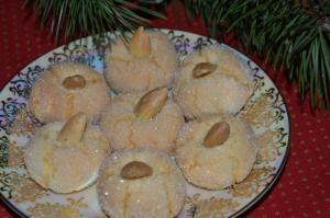 Amaretti sardi - sardské mandlové pečivo