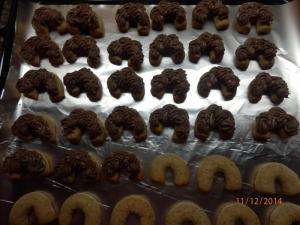 Krémové ořechové rohlíčky