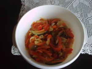 Salát z opečené zeleniny