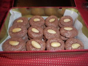 Ořechové pusinky s čokoládou