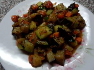 Grilované kuře se zeleninou ratatouille