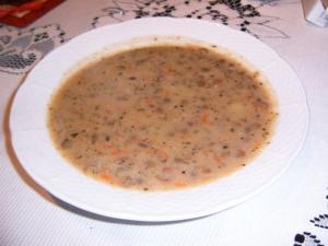 Čočková polévka mléčná