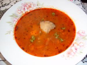 Polévka z hlívy (falešná dršťková)