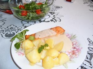 Losos s citronovou omáčkou