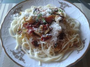 Špagety s artyčoky
