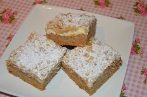 Špaldový koláč s jablky a tvarohem