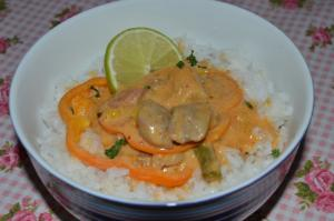 Thajské červené karí (Thai red curry)