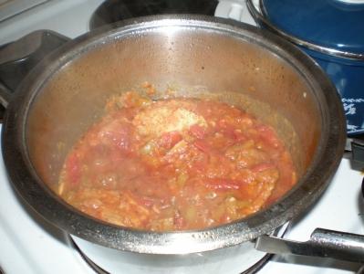 Vepřové v paprikách a rajčatech